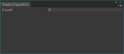 Unity 静的クラス エディター拡張